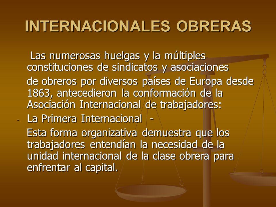 INTERNACIONALES OBRERAS