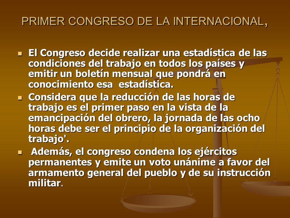 PRIMER CONGRESO DE LA INTERNACIONAL,