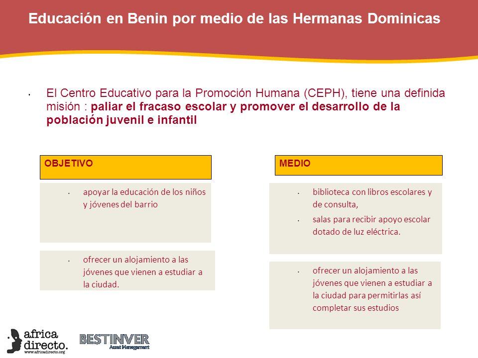 Educación en Benin por medio de las Hermanas Dominicas