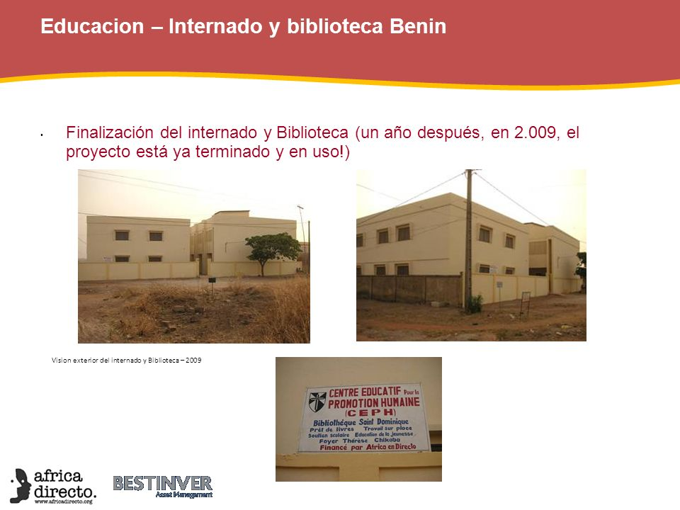 Educacion – Internado y biblioteca Benin
