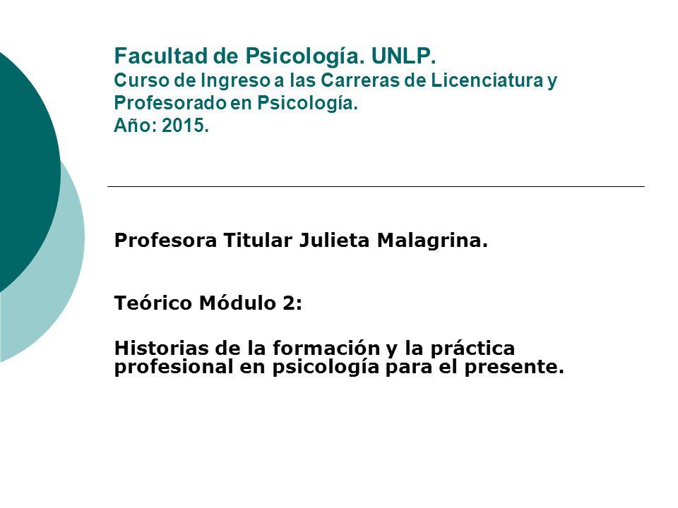 Facultad de Psicología. UNLP
