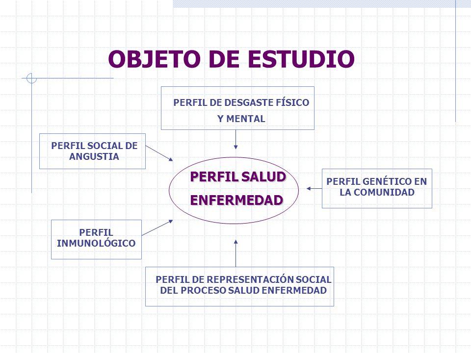 OBJETO DE ESTUDIO PERFIL SALUD ENFERMEDAD PERFIL DE DESGASTE FÍSICO