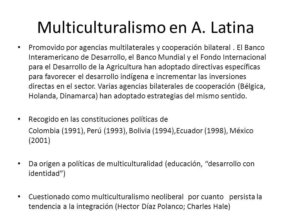 Multiculturalismo en A. Latina