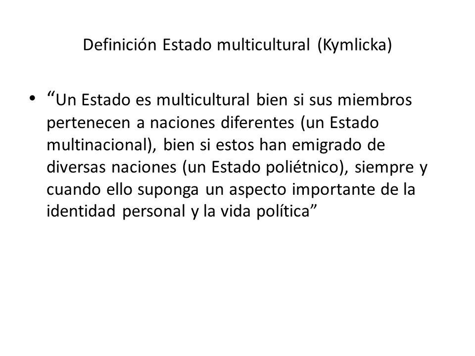 Definición Estado multicultural (Kymlicka)