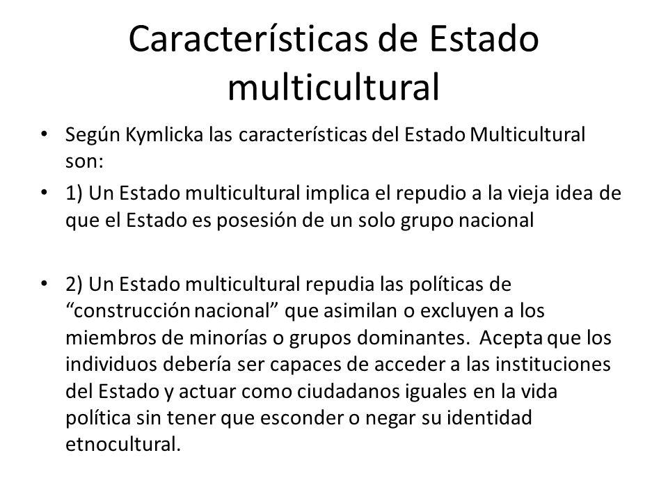 Características de Estado multicultural