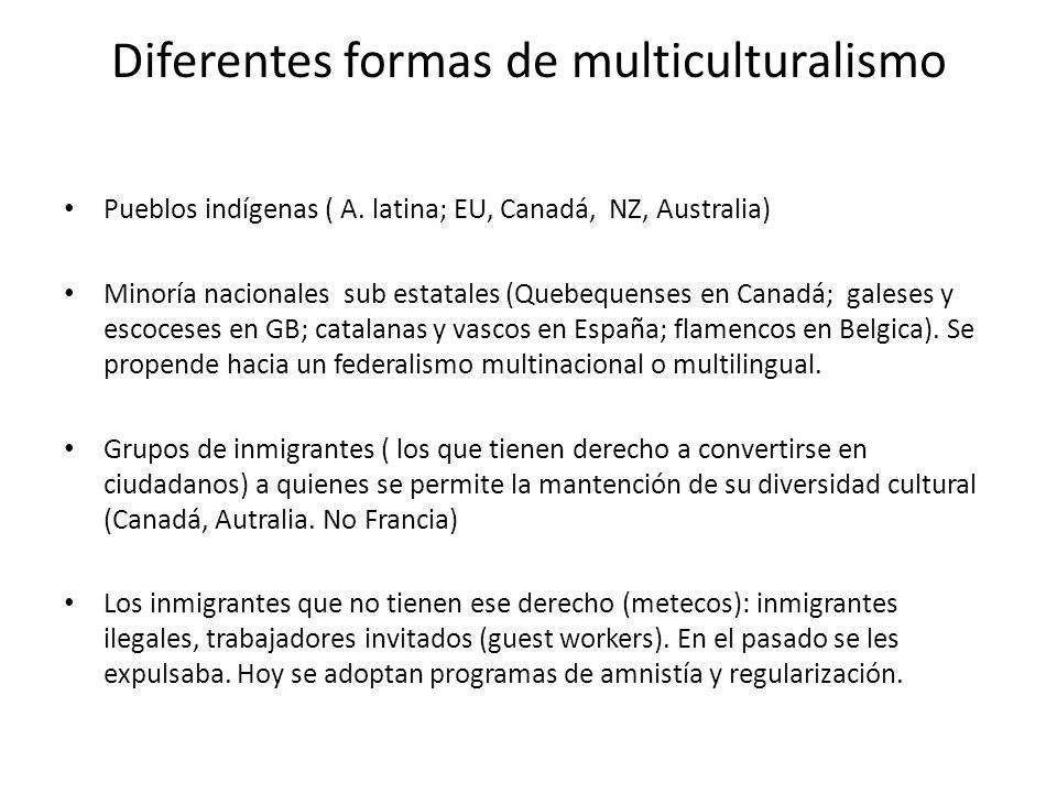 Diferentes formas de multiculturalismo