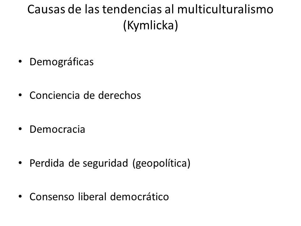 Causas de las tendencias al multiculturalismo (Kymlicka)