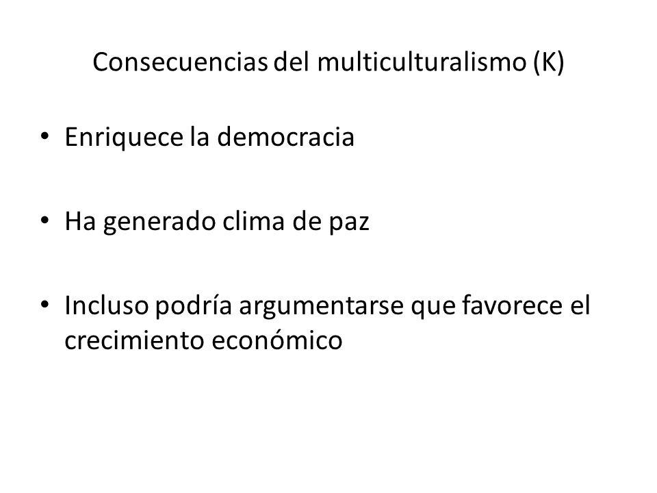 Consecuencias del multiculturalismo (K)