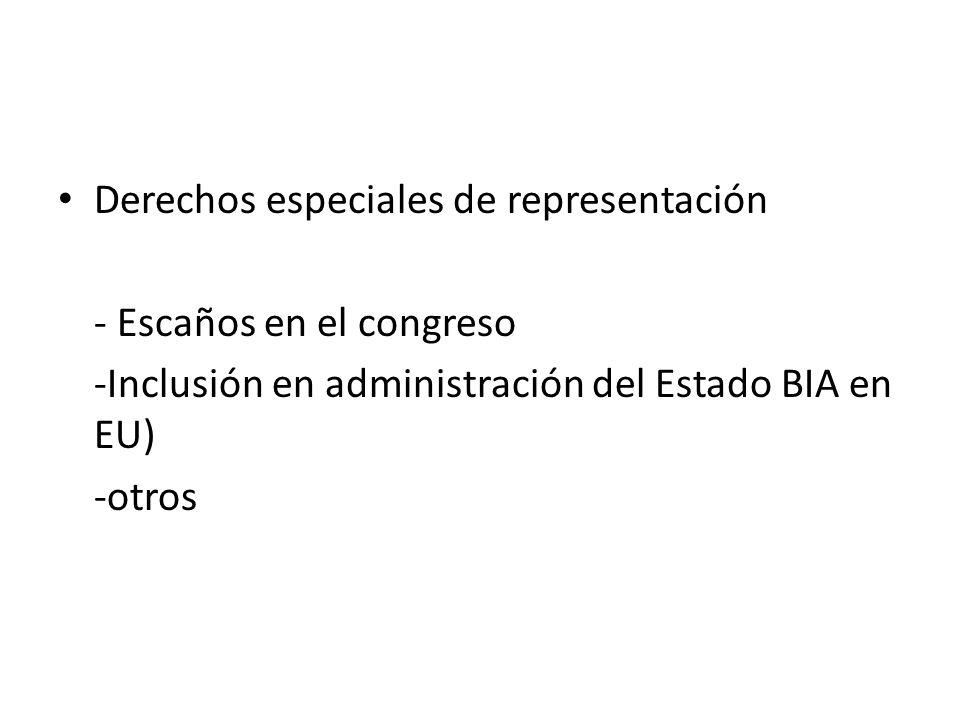 Derechos especiales de representación