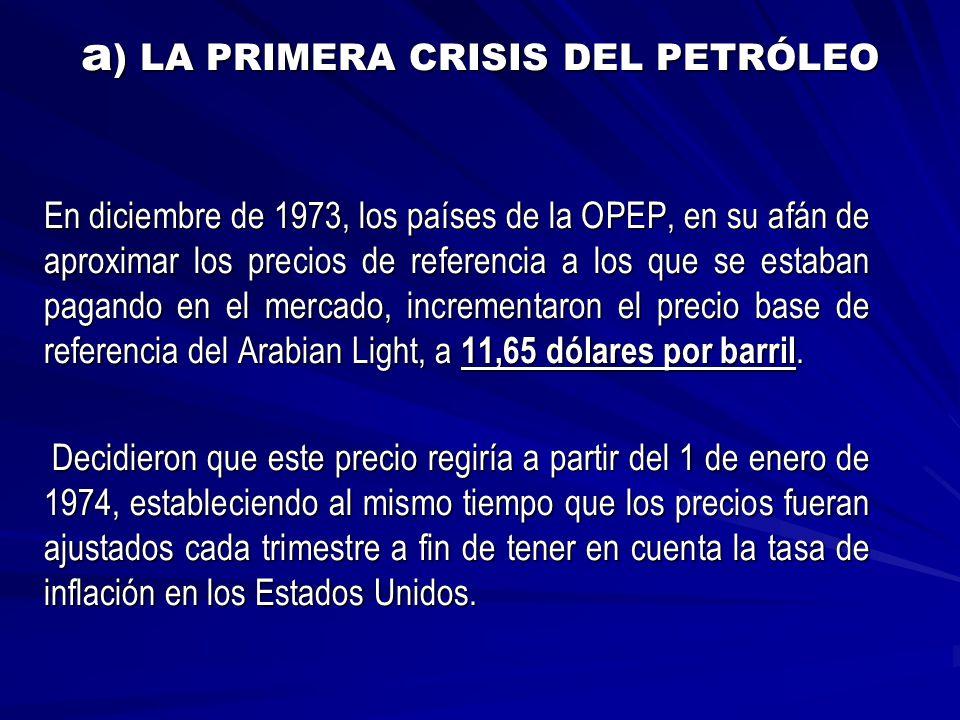 a) LA PRIMERA CRISIS DEL PETRÓLEO