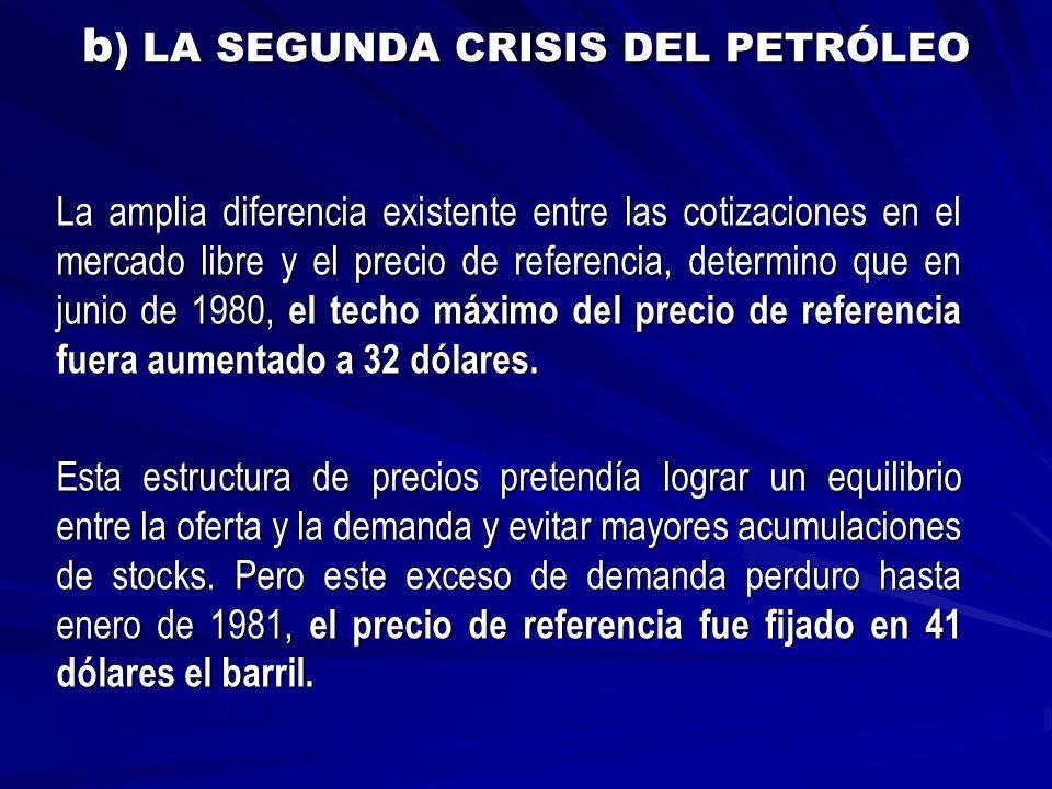 b) LA SEGUNDA CRISIS DEL PETRÓLEO