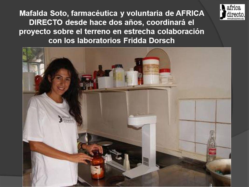 Mafalda Soto, farmacéutica y voluntaria de AFRICA DIRECTO desde hace dos años, coordinará el proyecto sobre el terreno en estrecha colaboración con los laboratorios Fridda Dorsch