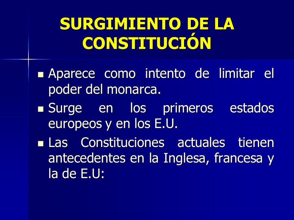 SURGIMIENTO DE LA CONSTITUCIÓN