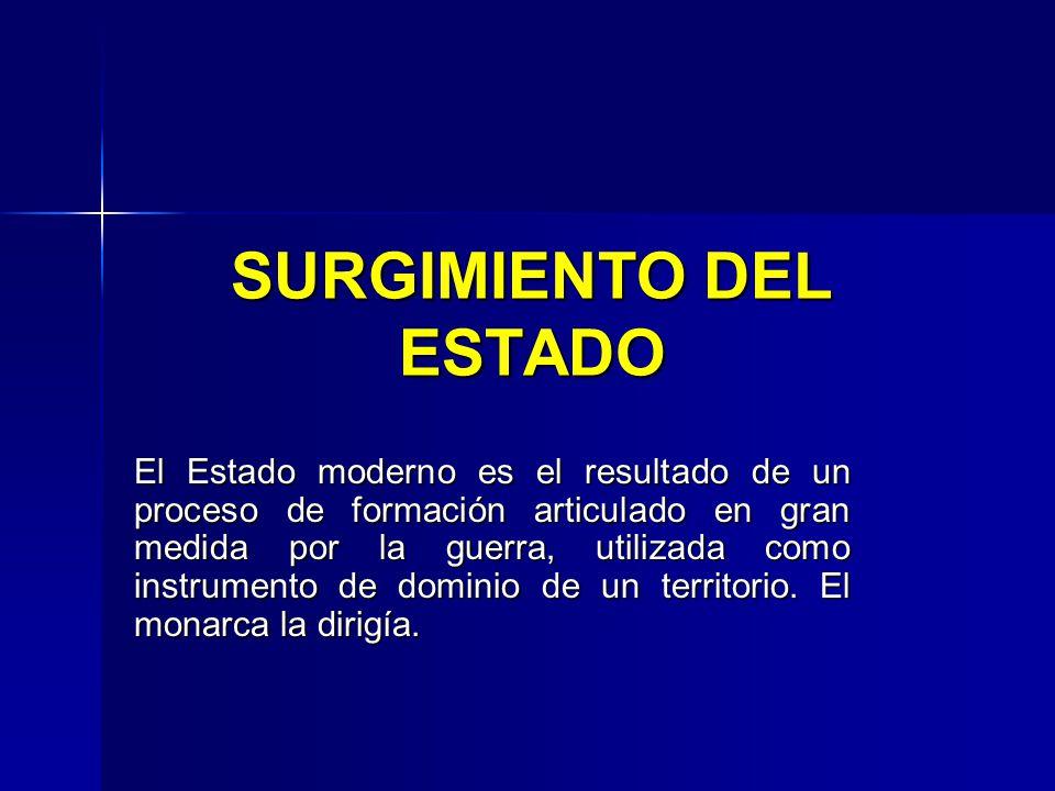 SURGIMIENTO DEL ESTADO