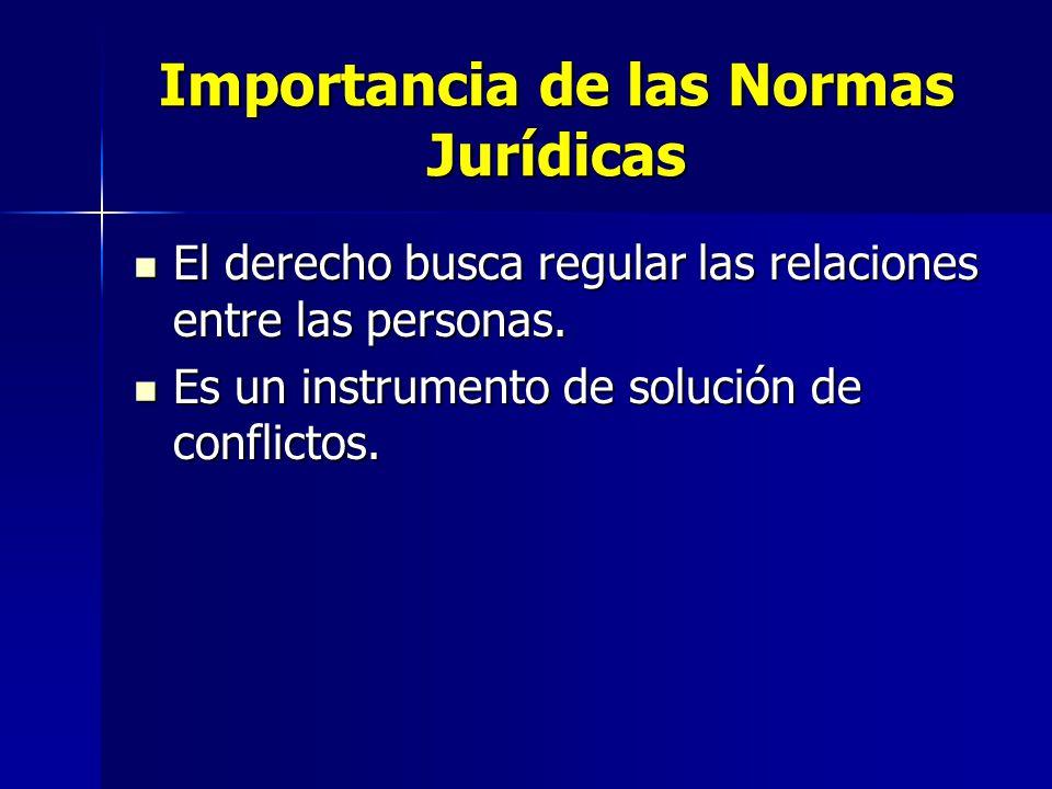 Importancia de las Normas Jurídicas