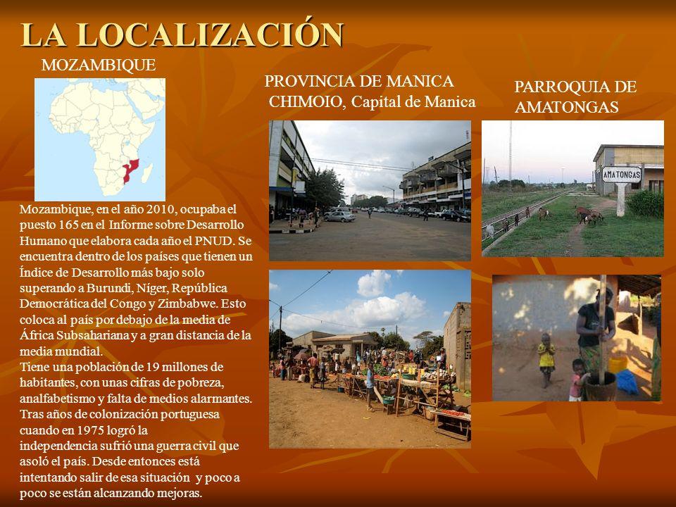 LA LOCALIZACIÓN MOZAMBIQUE PROVINCIA DE MANICA PARROQUIA DE