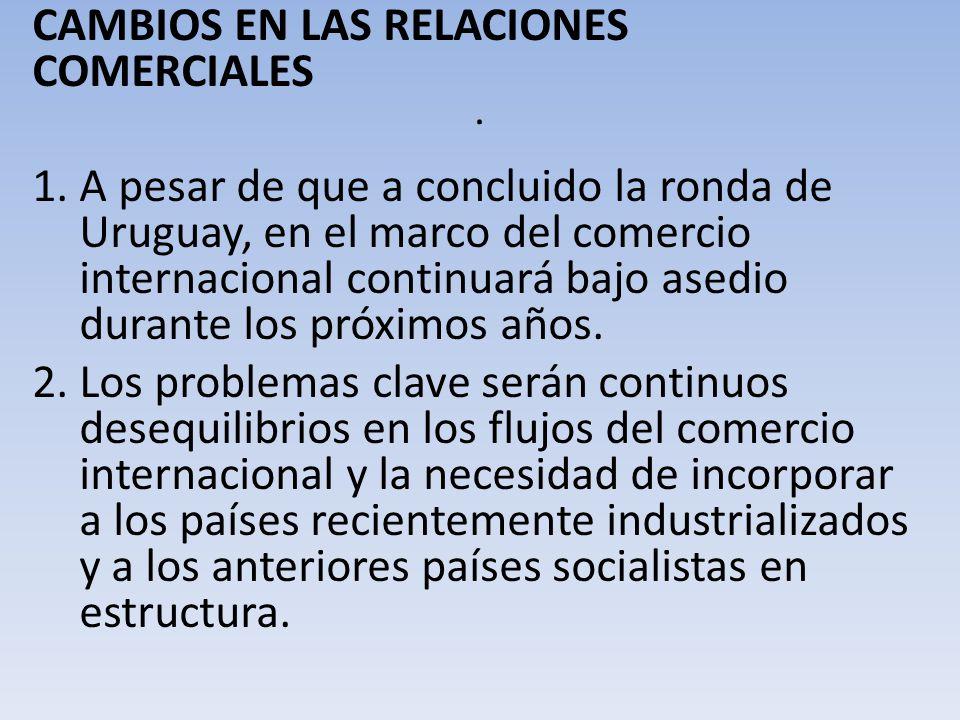 . CAMBIOS EN LAS RELACIONES COMERCIALES
