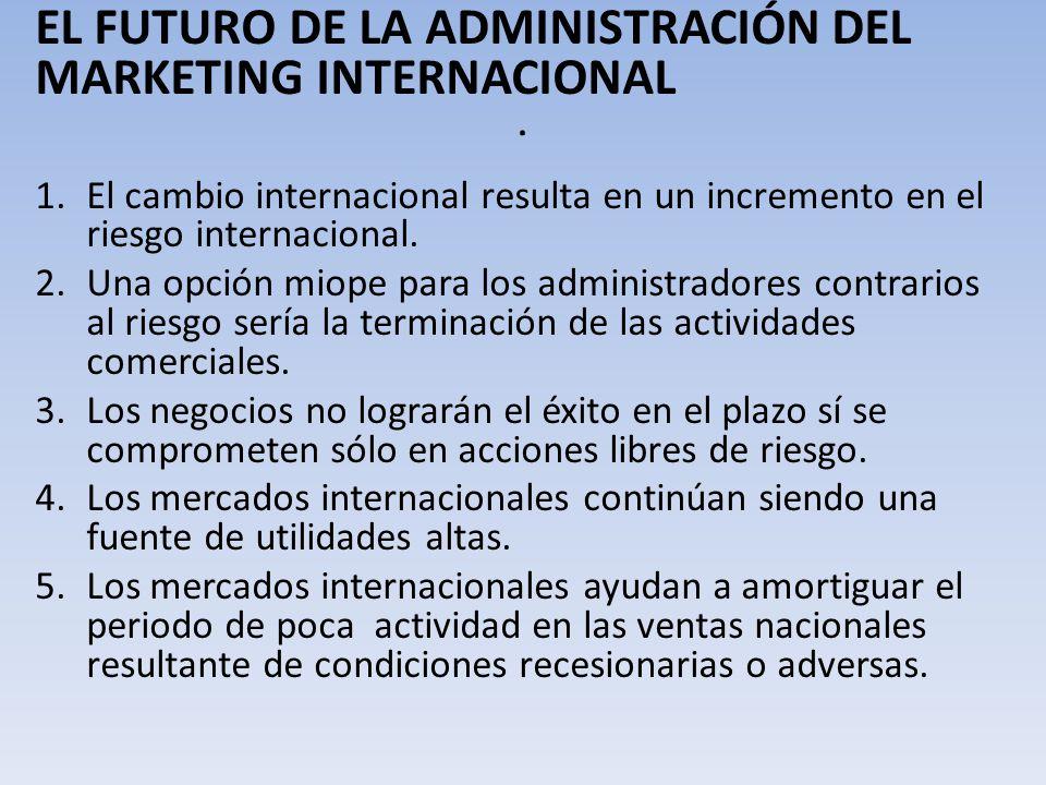 . EL FUTURO DE LA ADMINISTRACIÓN DEL MARKETING INTERNACIONAL
