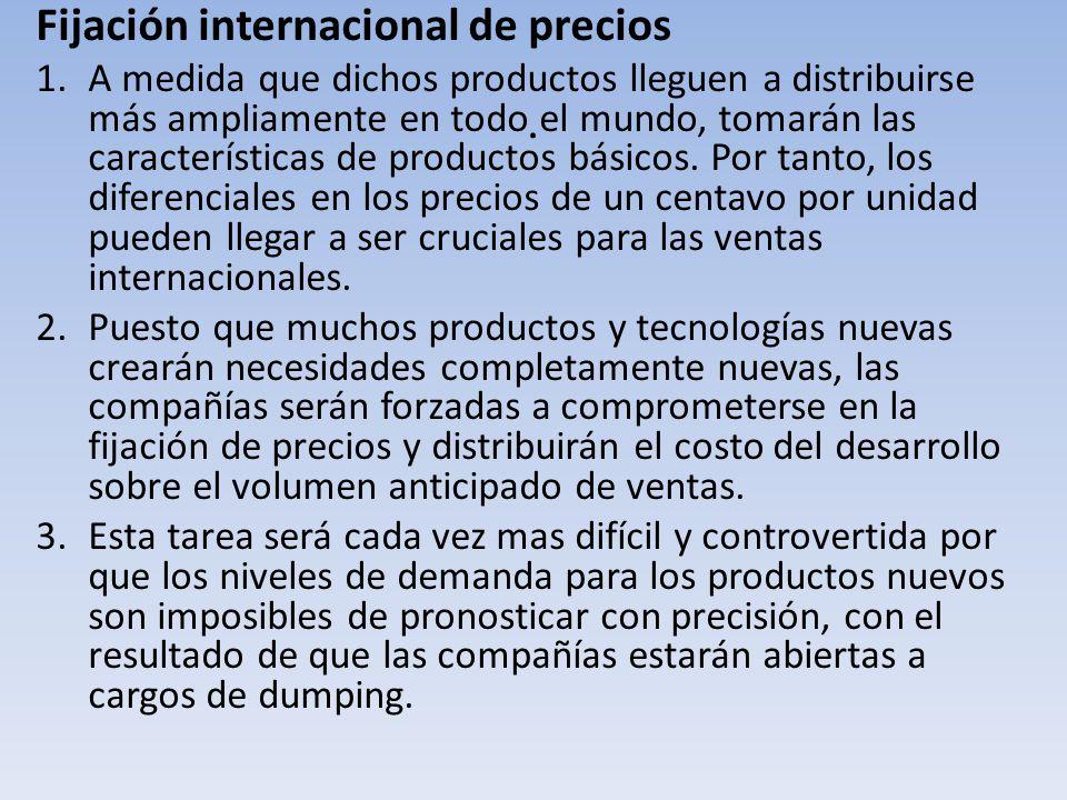 . Fijación internacional de precios