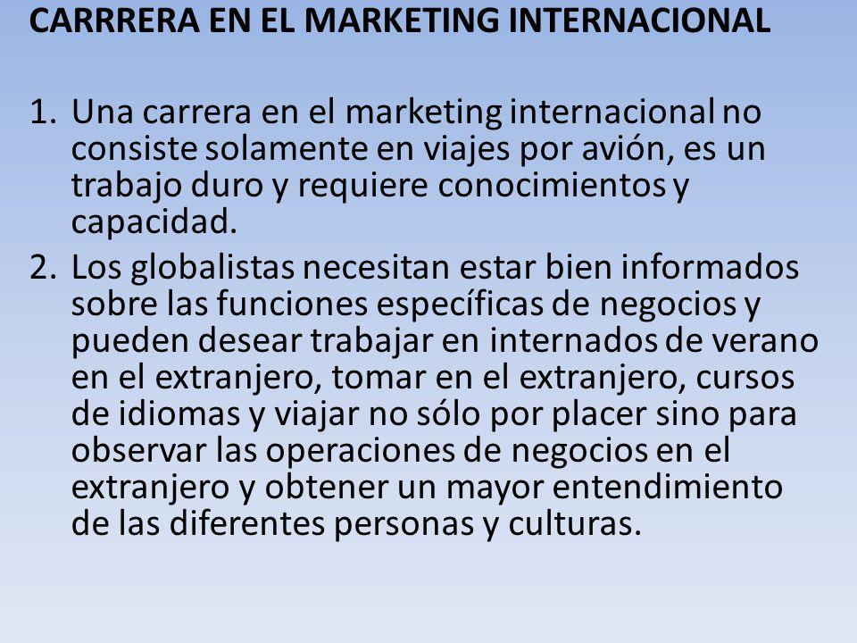 . CARRRERA EN EL MARKETING INTERNACIONAL