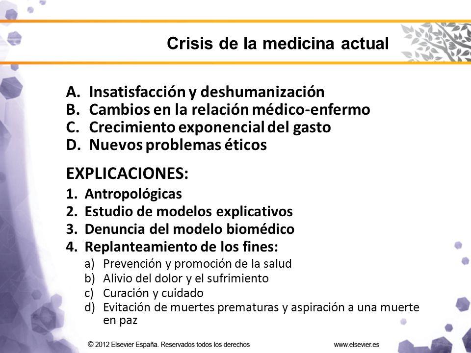 EXPLICACIONES: Crisis de la medicina actual