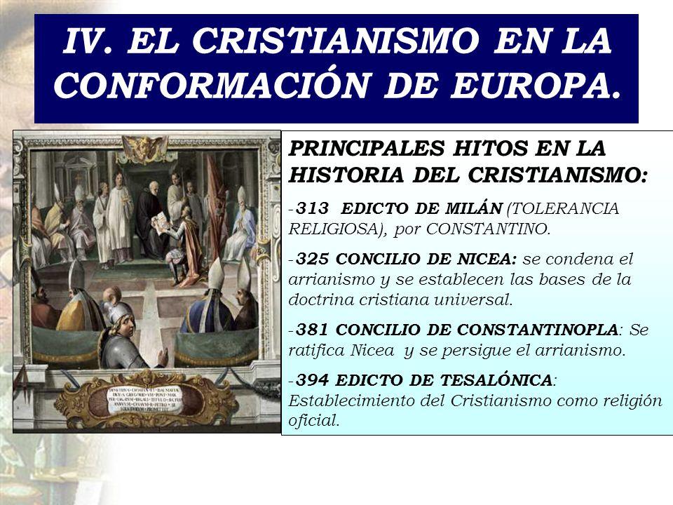 IV. EL CRISTIANISMO EN LA CONFORMACIÓN DE EUROPA.