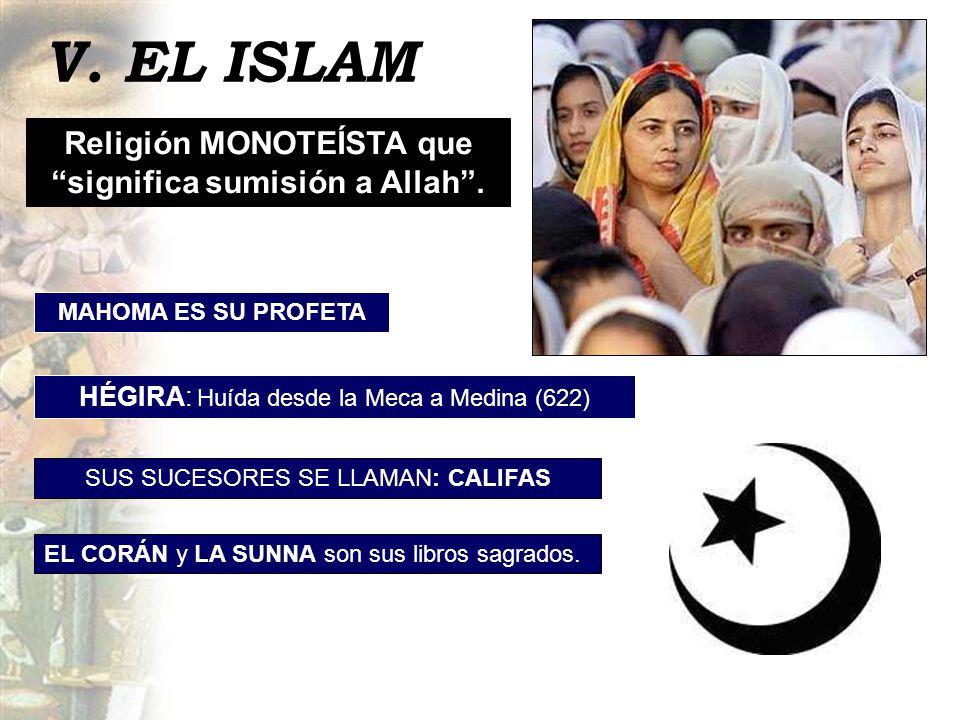 Religión MONOTEÍSTA que significa sumisión a Allah .