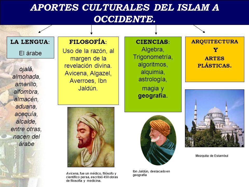 APORTES CULTURALES DEL ISLAM A OCCIDENTE.