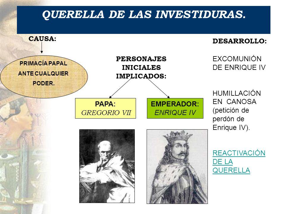 QUERELLA DE LAS INVESTIDURAS.
