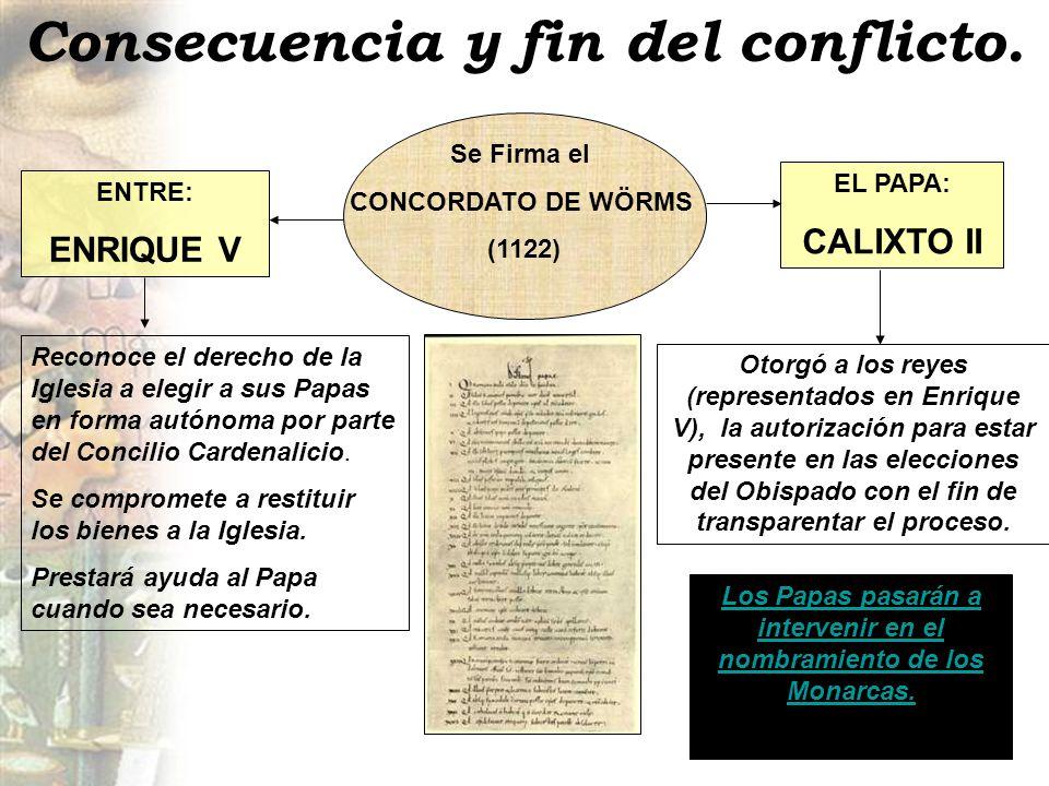 Consecuencia y fin del conflicto.