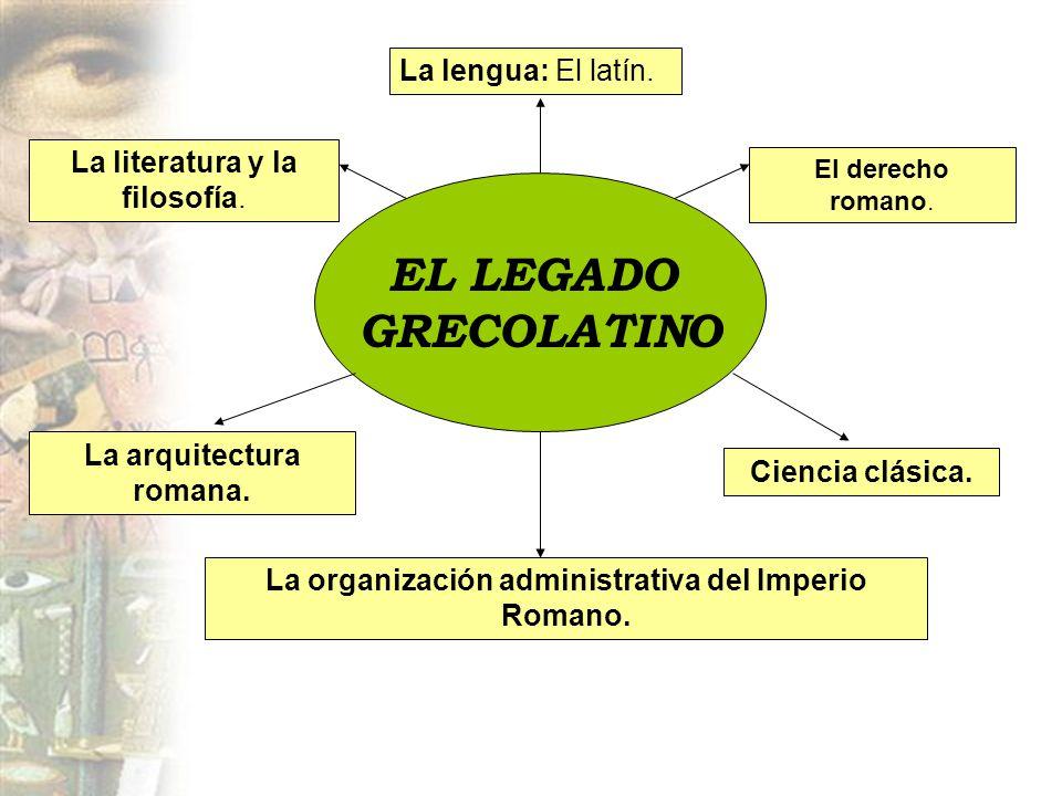 EL LEGADO GRECOLATINO La lengua: El latín.