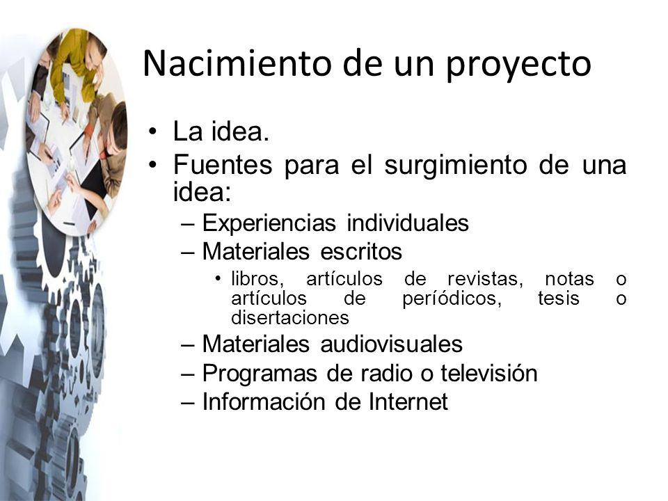 Nacimiento de un proyecto