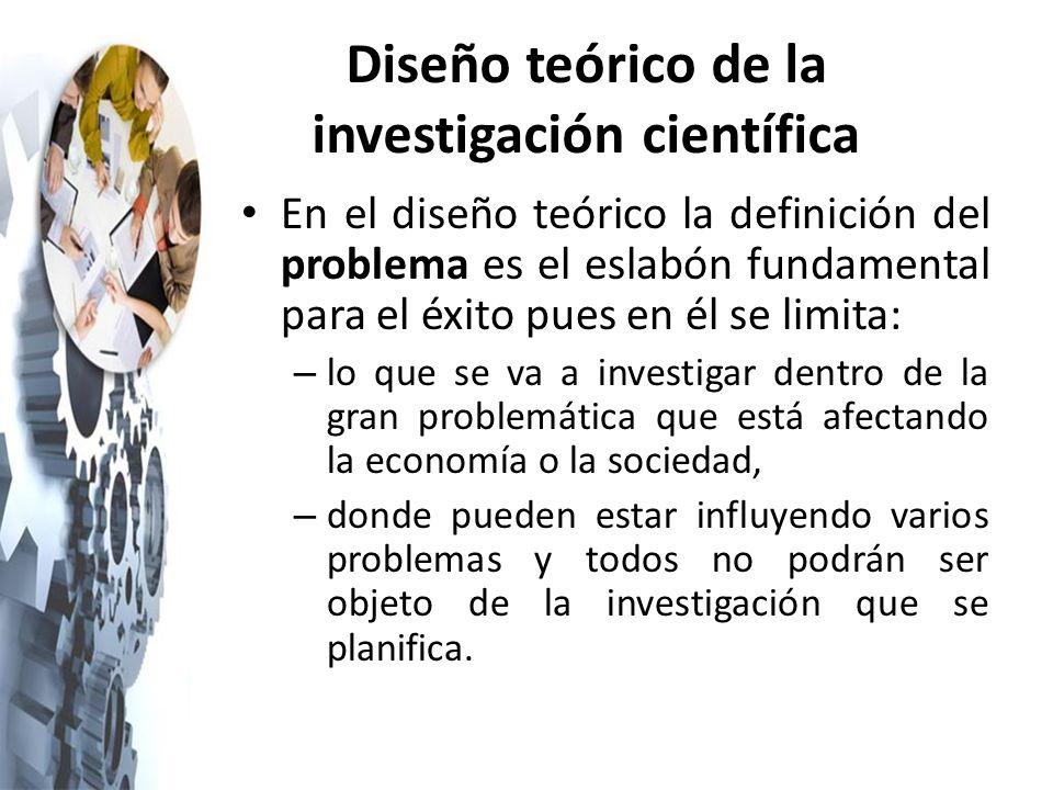 Diseño teórico de la investigación científica