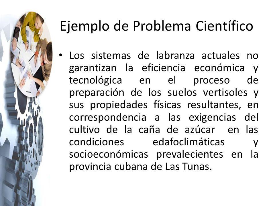 Ejemplo de Problema Científico