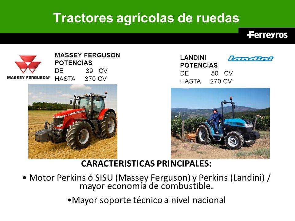 Tractores agrícolas de ruedas