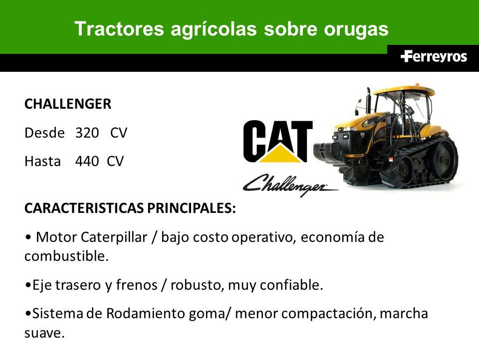 Tractores agrícolas sobre orugas