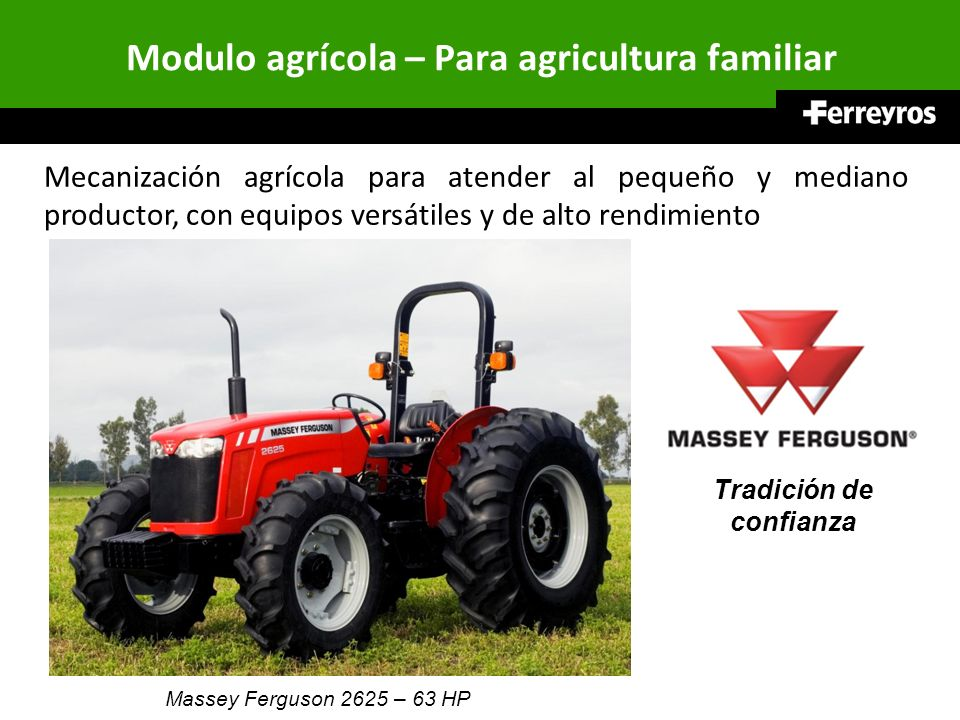 Modulo agrícola – Para agricultura familiar