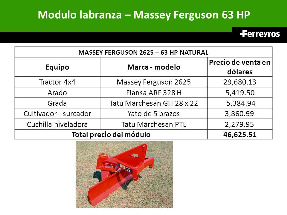 Modulo labranza – Massey Ferguson 63 HP