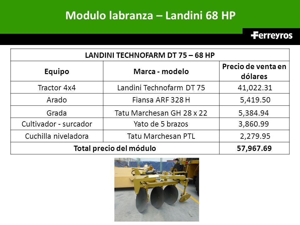 Modulo labranza – Landini 68 HP