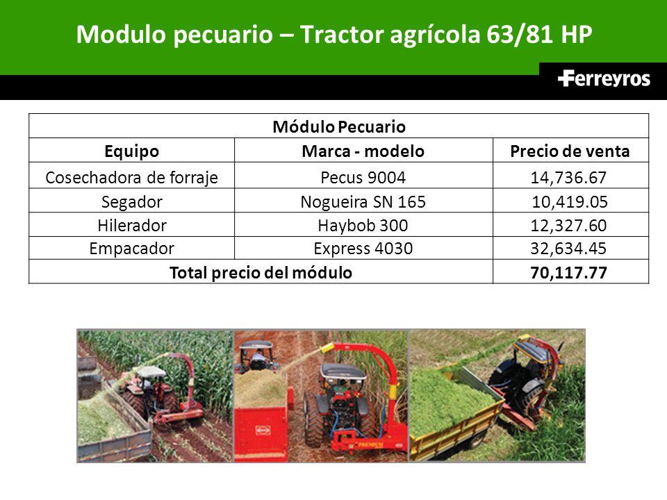 Modulo pecuario – Tractor agrícola 63/81 HP