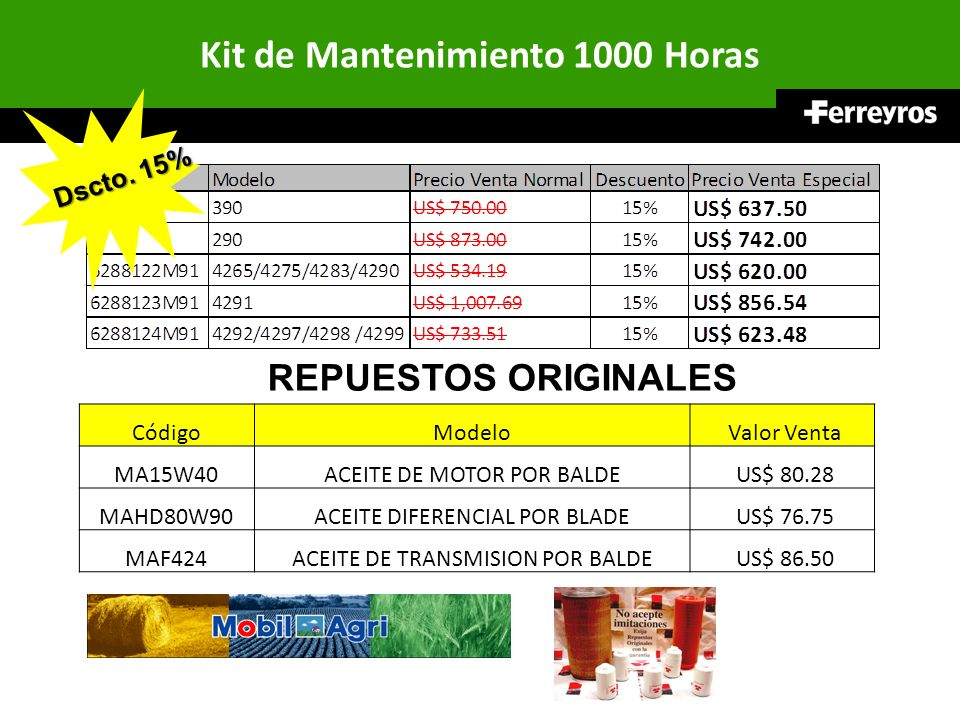 Kit de Mantenimiento 1000 Horas