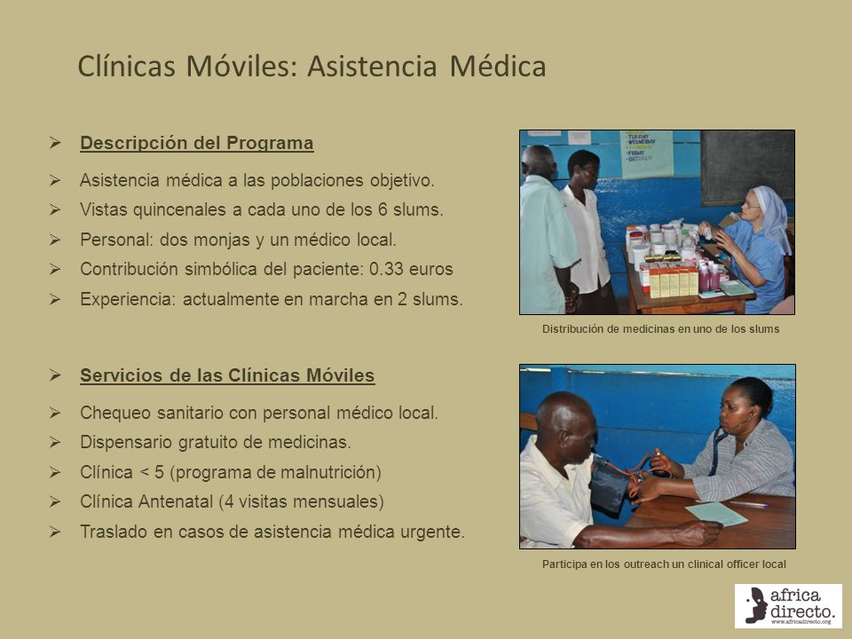 Clínicas Móviles: Asistencia Médica
