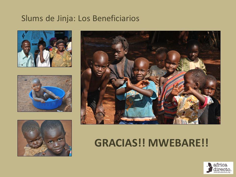 Slums de Jinja: Los Beneficiarios