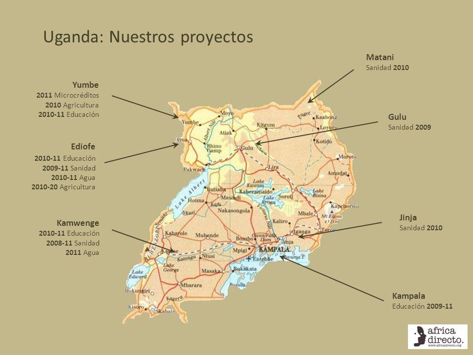 Uganda: Nuestros proyectos