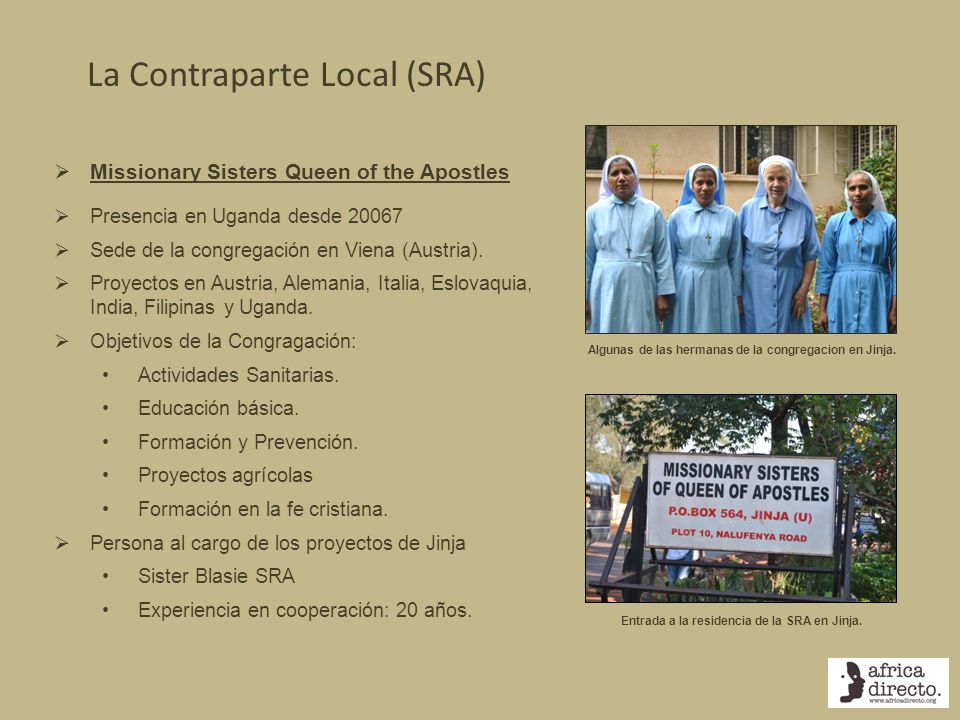 La Contraparte Local (SRA)