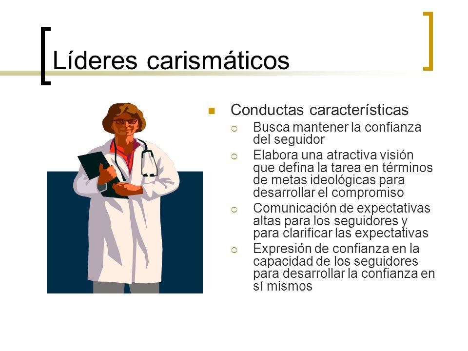Líderes carismáticos Conductas características