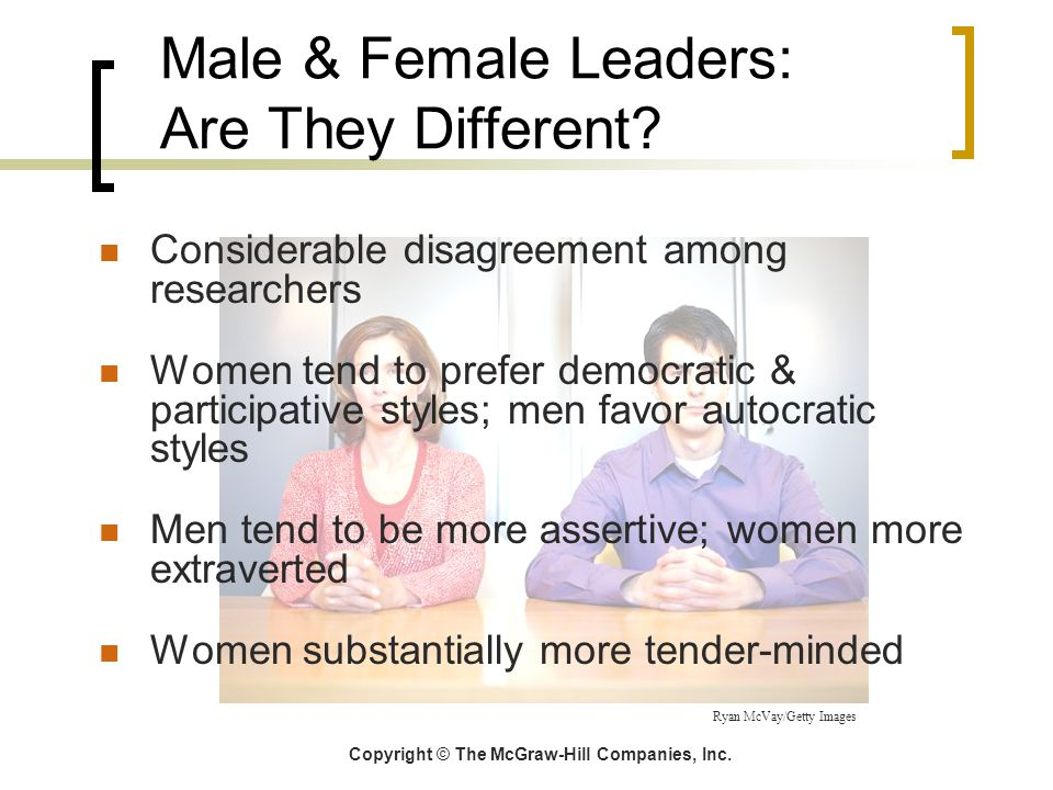 Male & Female Leaders: Are They Different