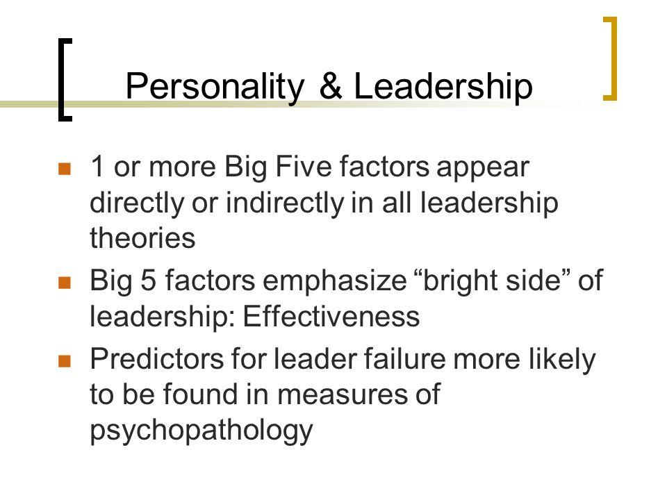 Personality & Leadership