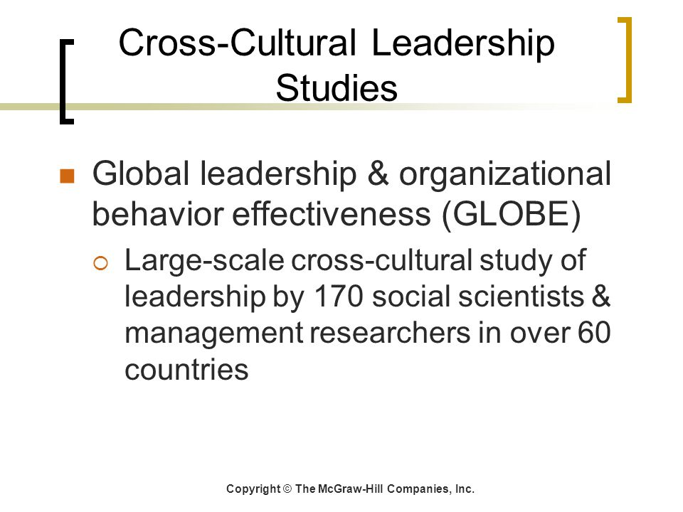 Cross-Cultural Leadership Studies