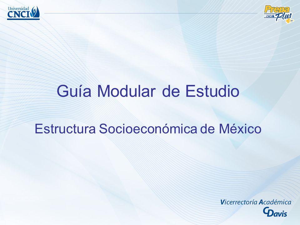 Guía Modular de Estudio Estructura Socioeconómica de México